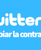 Twitter cambiar contraseña