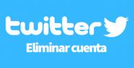 Twitter eliminar cuenta